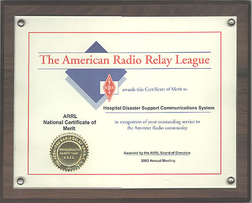 ARRL National Certificate of Merit