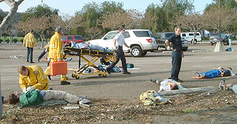 START triage during OC disaster drill