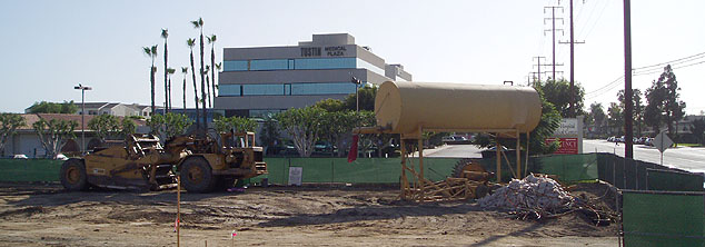 Construction site and Tustin Hospital
